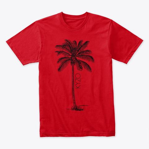 Kyzo Big Palm Red T-Shirt Front