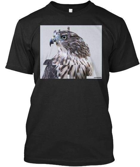 Hawk Black T-Shirt Front