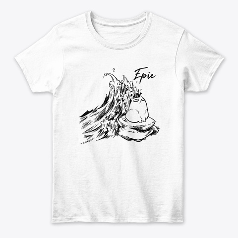Epic Cat By Rambutan White Camiseta Front