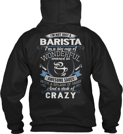 Barista   Limited Edition Black T-Shirt Back