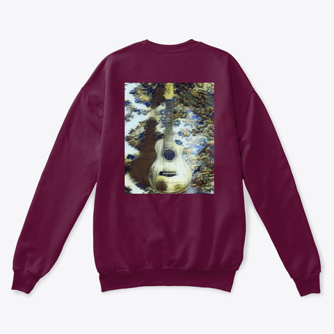 Sweater Blue Hh Uke  Maroon  T-Shirt Back