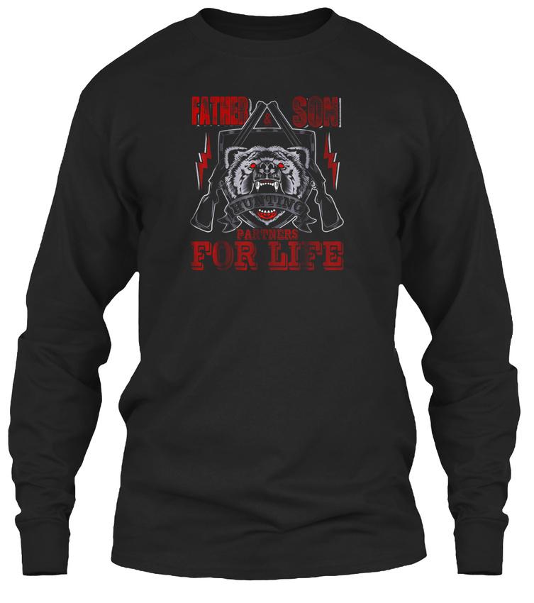 3eb05fda Father And Son Hunting Partners For Life T Gildan Long Sleeve Tee T-Shirt