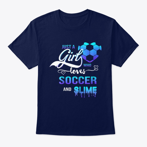 Just A Girl Who Loves Soccer Shirt Navy T-Shirt Front