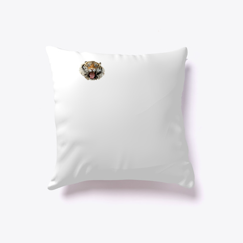 Tiger Pillow White T-Shirt Back