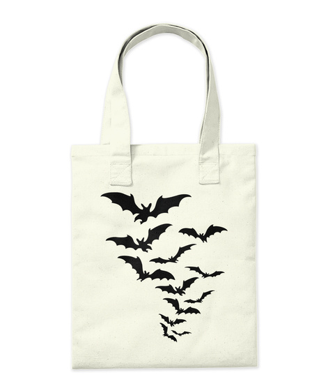 Flying Bat Tote Bag Natural T-Shirt Back