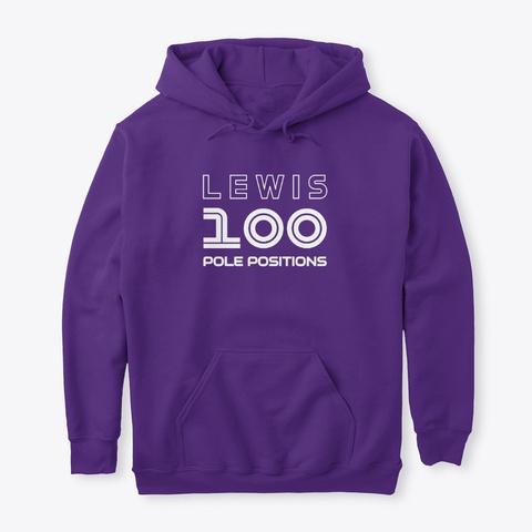 Lewis 100 Pole Positions  Purple T-Shirt Front