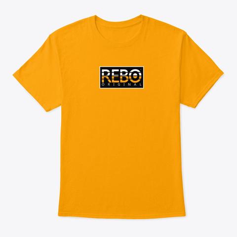 Rebo I Sqr Gold T-Shirt Front