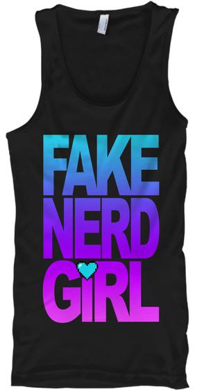 Fake Nerd Girl Tank Top Front