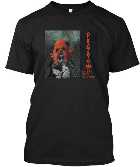 Pugdom Black T-Shirt Front