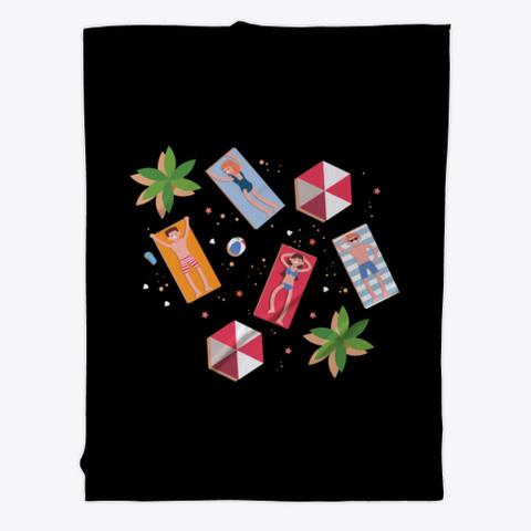 Fleece Blanket: Enjoy Black T-Shirt Front