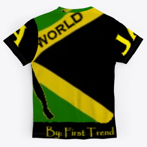 First Trend Jamaican  T Shirts Green T-Shirt Back