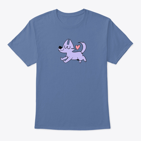 Lil Kevin The Wolf Denim Blue T-Shirt Front