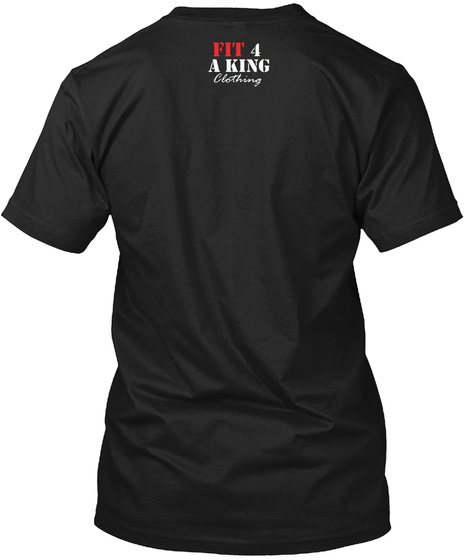 Fit For A King Clothing Black T-Shirt Back