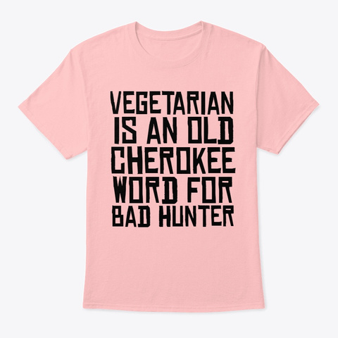 Bad Hunter T Shirt Pale Pink Kaos Front