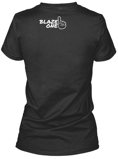 Blaze One Black T-Shirt Back