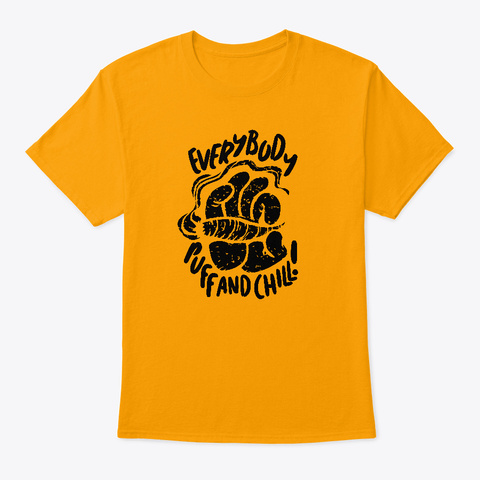 Puff And Chill B/L  Mens Tee Gold T-Shirt Front