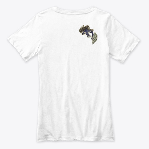 Willow Dance Sea And Flowers White T-Shirt Back