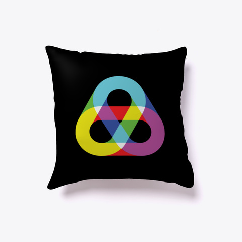 Rgb Loops Pillow Black T-Shirt Front