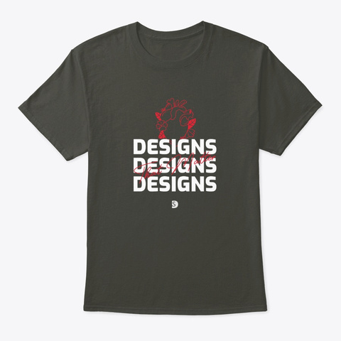 Designs That Matter Smoke Gray T-Shirt Front
