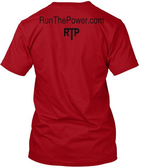 Run The Power.Com Rtp Deep Red T-Shirt Back