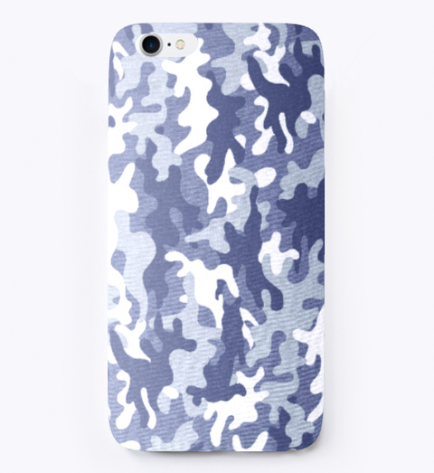 Camo Phone Cases White T-Shirt Front