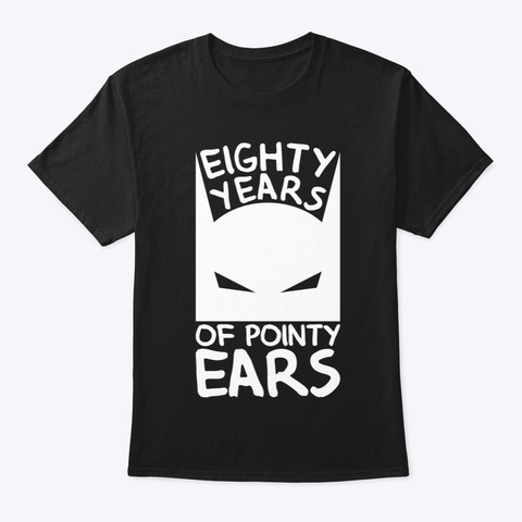 Eighty Years Of Pointy Ears Black T-Shirt Front