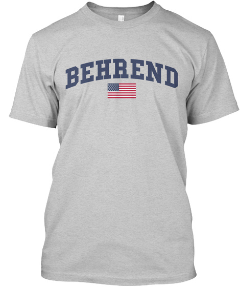 Behrend Family Flag Light Steel T-Shirt Front