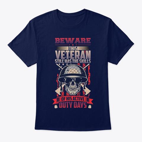 Veteran Veterans Day Veterans Skills Navy T-Shirt Front