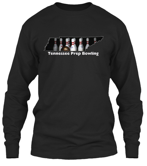 Tennessee Prep Bowling Black Long Sleeve T-Shirt Front