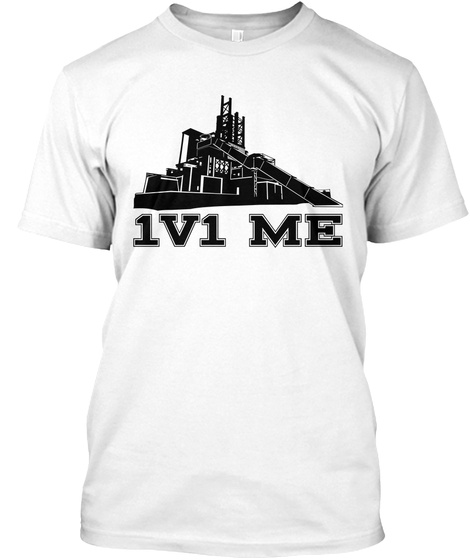 1v1 Me White T-Shirt Front