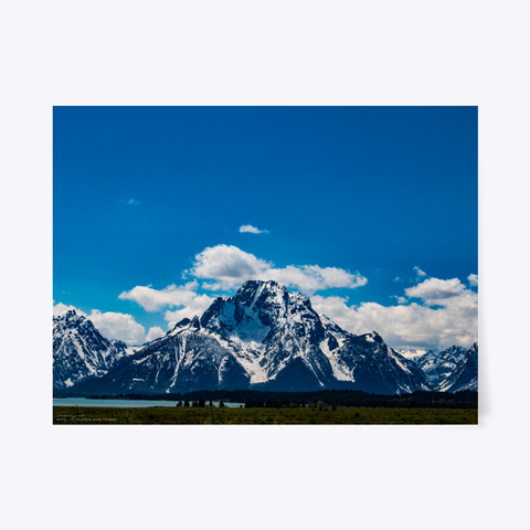 Mount Moran   Grand Tetons, Wyoming White T-Shirt Front