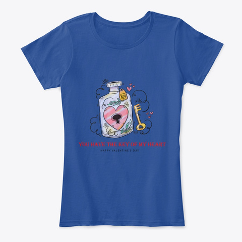 Key To Your Heart  Deep Royal  Women's T-Shirt Front