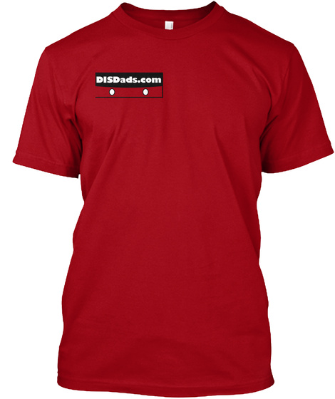 Disdads.Com Deep Red T-Shirt Front