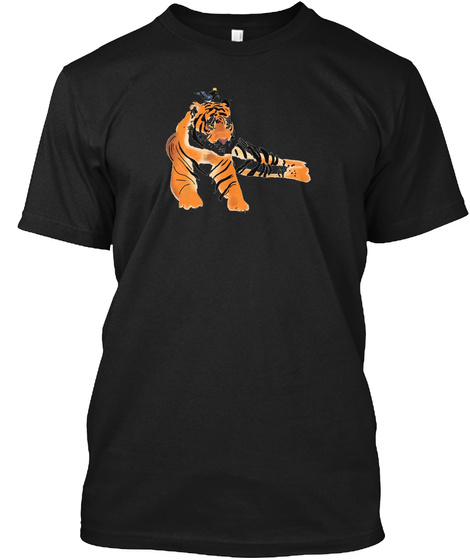 The Thieving Magpie And His Tiger Black T-Shirt Front