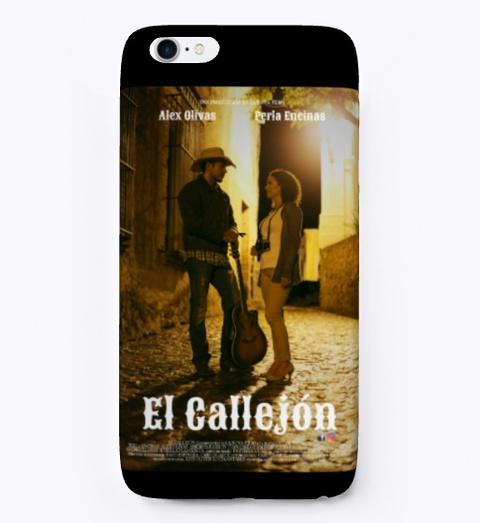 """Pelicula """"El Callejon"""" Black Camiseta Front"""