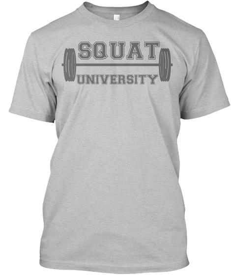 Squat University Athletic Grey T-Shirt Front