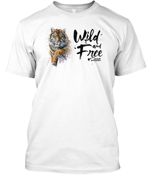 Wildlife Hq Tiger Apparel White T-Shirt Front