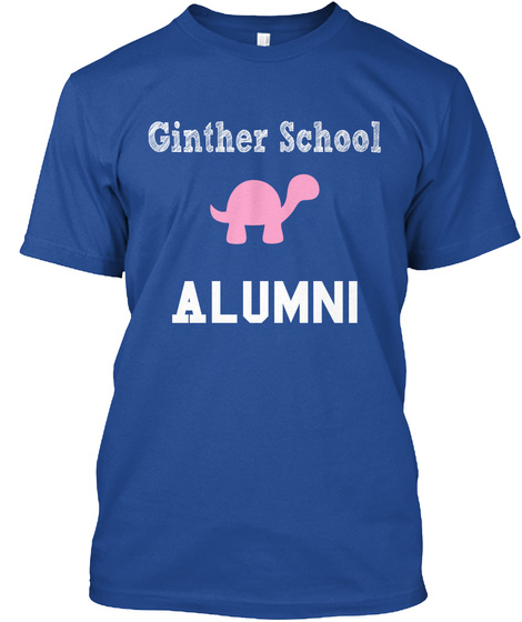 Ginther School Alumni Deep Royal T-Shirt Front