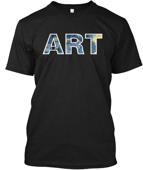 Art Black T-Shirt Front