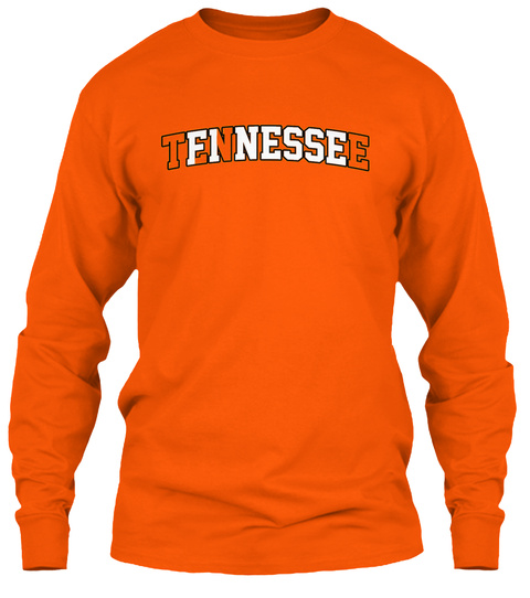 Tennessee Safety Orange Long Sleeve T-Shirt Front