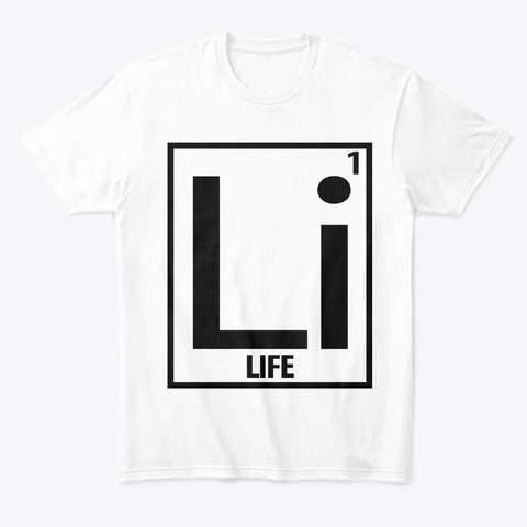 1 Life White T-Shirt Front