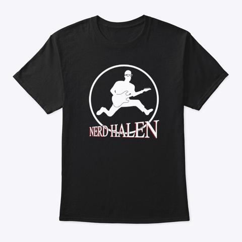 Nerd Halen Gear 4 Black T-Shirt Front