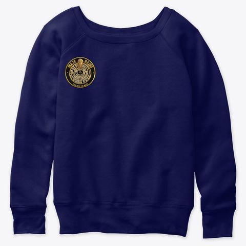Women's Sweatshirt Navy  T-Shirt Front