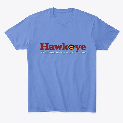 Hawkeye's Gaming Gear Heathered Royal  T-Shirt Front