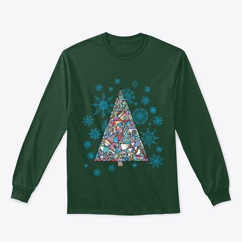 Christmas Fir Tree Forest Green T-Shirt Front