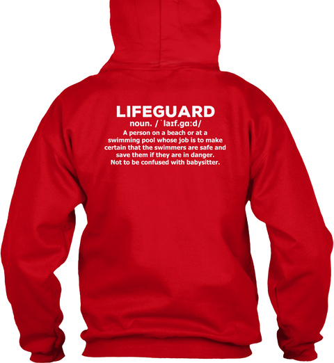 Limited Edition   Lifeguard Hoodies Red T-Shirt Back