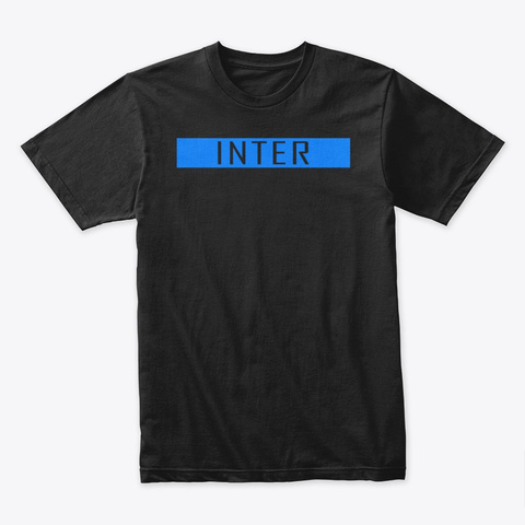 Inter Collection (Blue) Black T-Shirt Front
