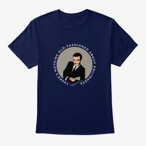 Leave It To Beaver Ward Cleaver Quote Navy T-Shirt Front