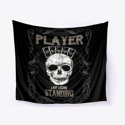 Last Legend Standing: Poker Player Black T-Shirt Front