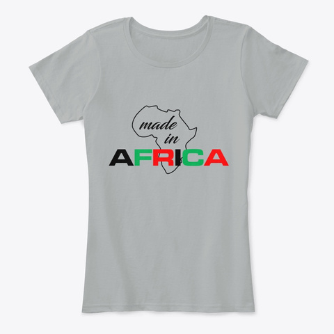 Made In Africa Grey T-Shirt Front